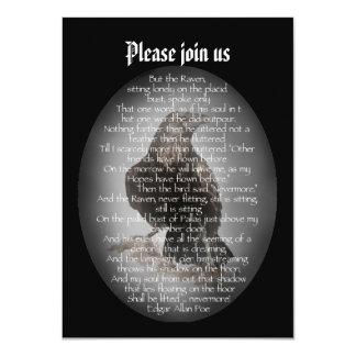 Raben-Gedicht Halloween-Party-Edgar Allan Poe 11,4 X 15,9 Cm Einladungskarte