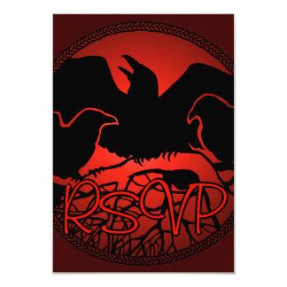 Raben-Kunst UAWG personalisierte gebürtige 8,9 X 12,7 Cm Einladungskarte