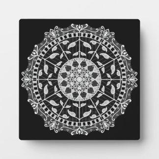 Raben-Mandala Fotoplatte