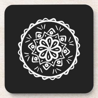 Raben-Mandala Getränkeuntersetzer