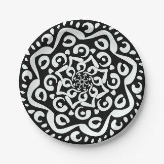 Raben-Mandala Pappteller