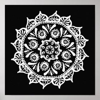 Raben-Mandala Poster