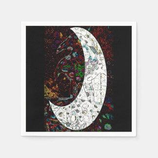 Raben-Mond Serviette