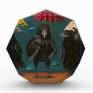 Raben-Regen Acryl Auszeichnung