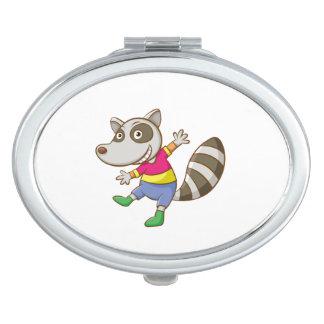 Raccoon-Cartoon Schminkspiegel