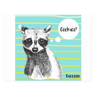Raccoon_Cookies_113323534.ai Postkarte
