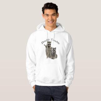 Raccoon-doppelter Problem-Hoodie und T - Shirts