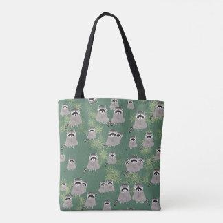 Raccoon ganz über Druck-Taschen-Tasche Tasche