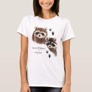 Raccoons verließen Abdrücke auf meinem Herzen, T-Shirt
