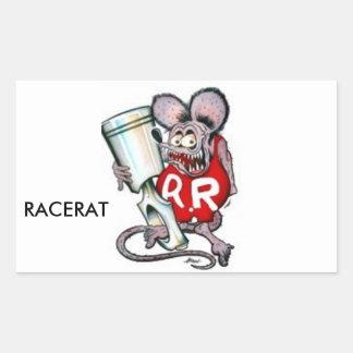 RACERAT Waren Rechteckiger Aufkleber