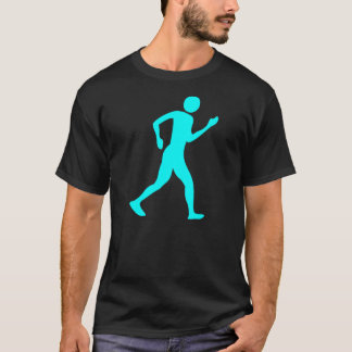 Racewalking - cyan-blau T-Shirt