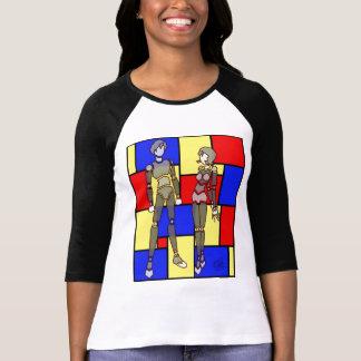 Rachel Anime Mondrian T-Stück T-Shirt