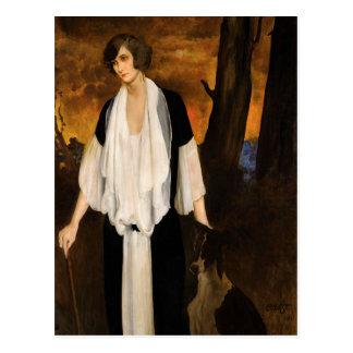 Rachel stark durch Léon Bakst 1924 Postkarte