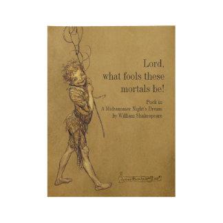 Rackham Kobold-Lord welche Dummköpfe CC0952 Holzposter