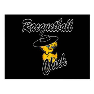 Racquetball-Küken #4 Postkarte
