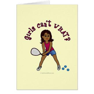 Racquetball-Mädchen (dunkel) Karte