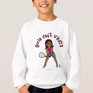Racquetball-Mädchen (dunkel) Sweatshirt