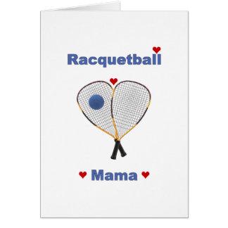 Racquetball-Mutter Karte