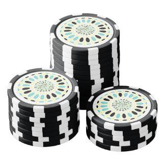 Rad auf Weiß Pokerchips