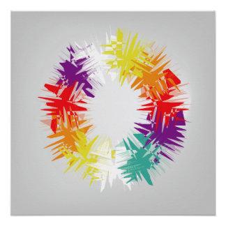 Rad von Farben Poster