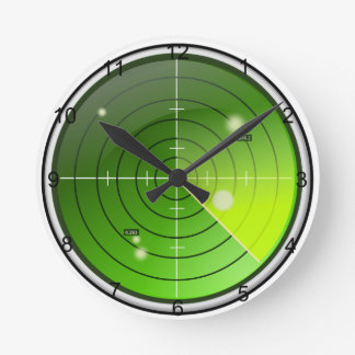 Radar Runde Wanduhr