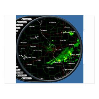 Radarschirm Postkarte