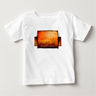 radelaide rote Rost-Entwurfst-shirts Baby T-shirt