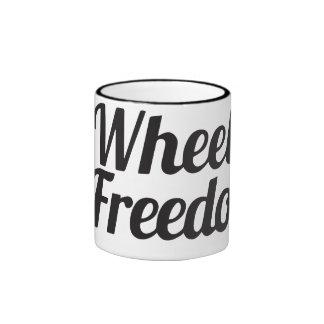 Räder des Wecker-zwei zur Freiheits-Tasse Ringer Tasse