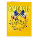 Radfahren2011-zyklus-Kreis Grußkarte