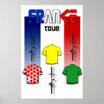 Radfahren, Frankreich-Radfahrer-Sport-Fan-Zyklus b Plakat