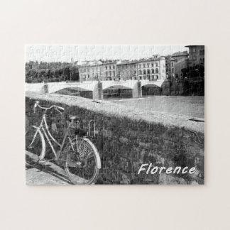 Radfahren in die italienische Stadt von Florenz Puzzle