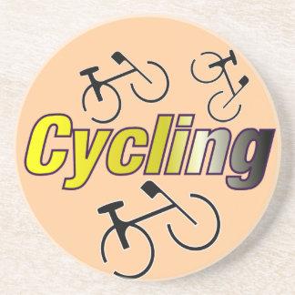 Radfahren mit Fahrrad Getränkeuntersetzer
