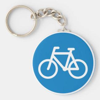 Radfahren-Verkehrsschild Keychain Standard Runder Schlüsselanhänger