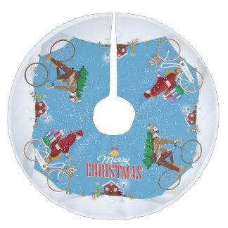 Radfahren zum Weihnachtsbaum-Rock das Haus der Polyester Weihnachtsbaumdecke