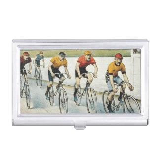Radfahrende alte Spitzenschule Visitenkarten Dose