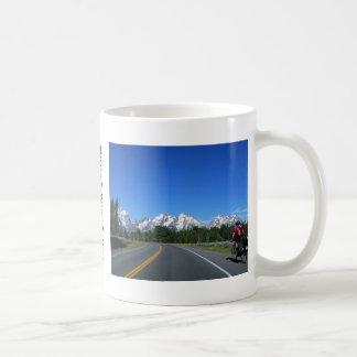 Radfahrende großartige Teton Nationalpark-Tasse Kaffeetasse