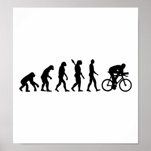 Radfahrenfahrrad der Evolution Plakat