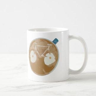 RadfahrenLatte Kunst Kaffeetasse