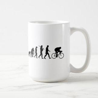 Radfahrenradfahrer-Evolution Fahrrad-Reiter-Zyklus Kaffeetasse