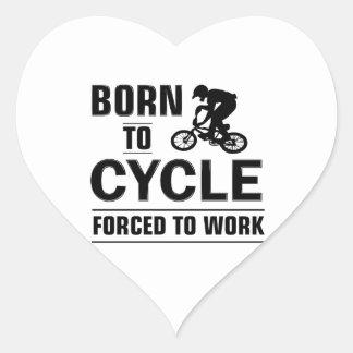 Radfahrent-shirt Herz-Aufkleber