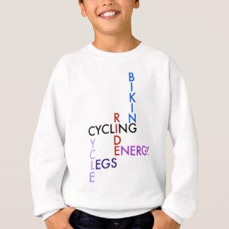 Radfahrenwort-Puzzlespiel Sweatshirt