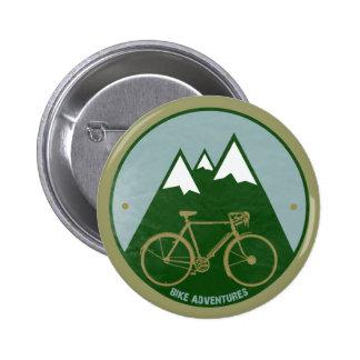 Radfahrer Abenteuer, Berge Anstecknadel
