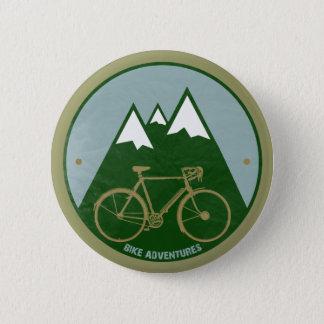 Radfahrer Abenteuer, Berge Runder Button 5,1 Cm