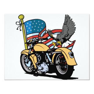 Radfahrer-Amerikaner Eagle 10,8 X 14 Cm Einladungskarte