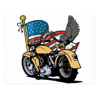 Radfahrer-Amerikaner Eagle Postkarte