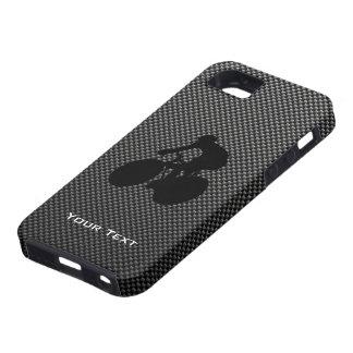 Radfahrer auf Kohlenstofffaserdruck iPhone 5 Schutzhüllen