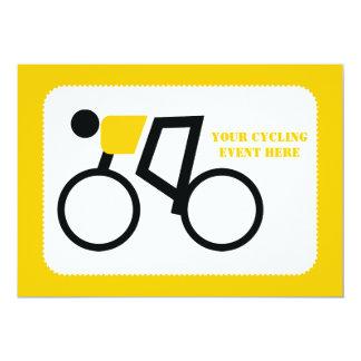 Radfahrer, der seine Fahrradgewohnheit reitet Karte