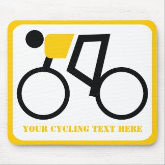 Radfahrer, der seine Fahrradgewohnheit reitet Mousepad