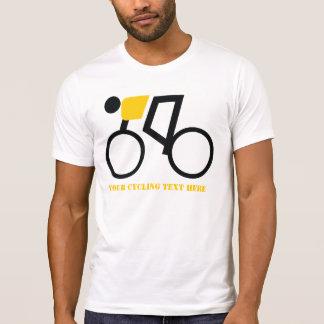 Radfahrer, der seine Fahrradgewohnheit reitet T-Shirt