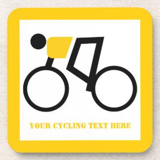Radfahrer, der seine Fahrradgewohnheit reitet Untersetzer